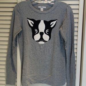Bass XS 100% cotton boston terrier grey sweater